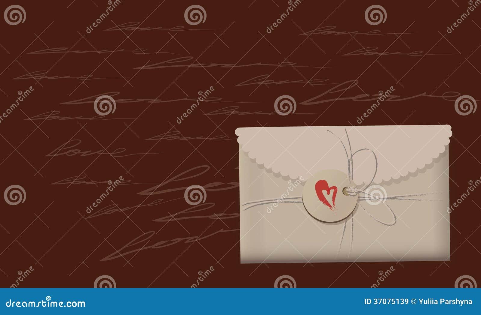 Download Walentynki ` s wiadomość ilustracji. Ilustracja złożonej z foremny - 37075139