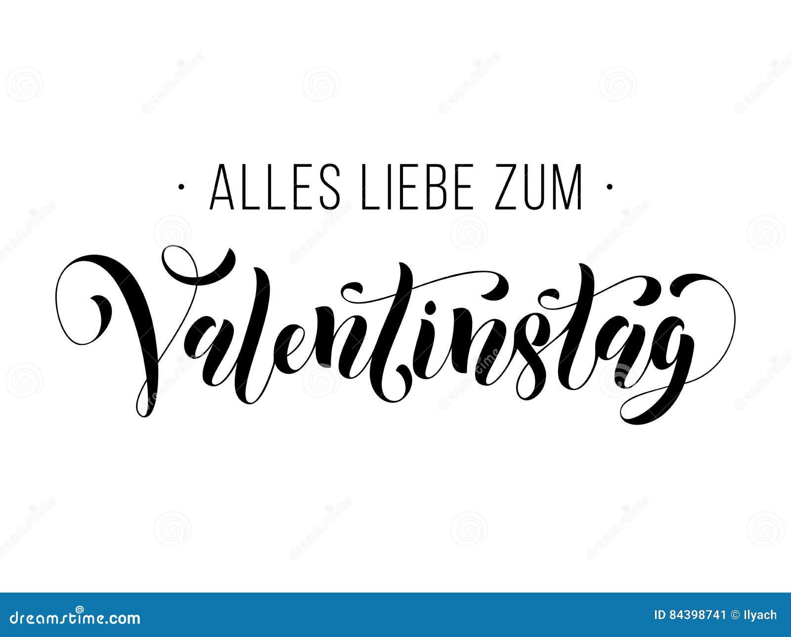 Walentynki Teksta Valentinstag Niemiecki Kartka Z Pozdrowieniami ...