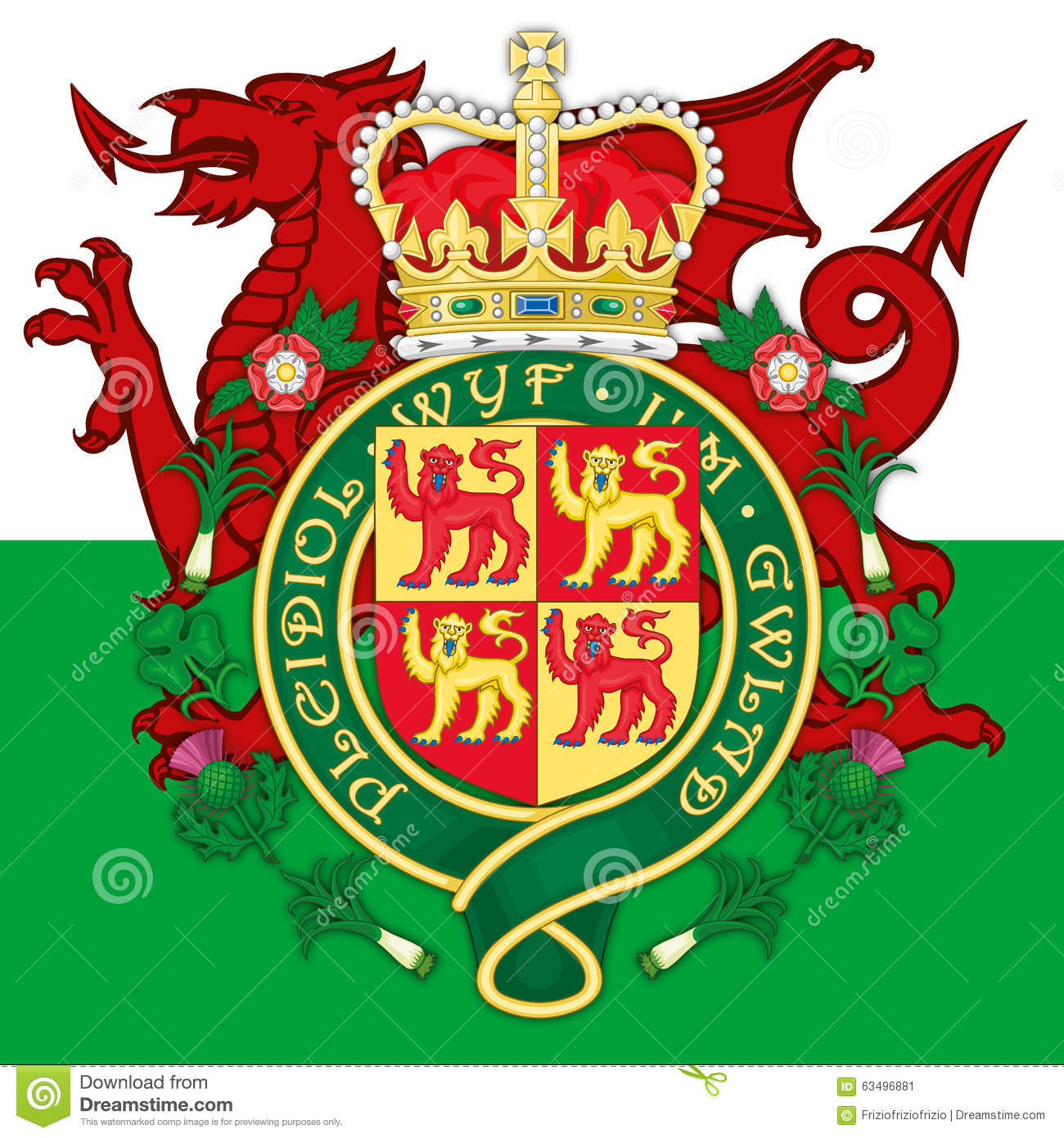 Wales coat of arms and flag stock image image of flag united wales coat of arms and flag buycottarizona