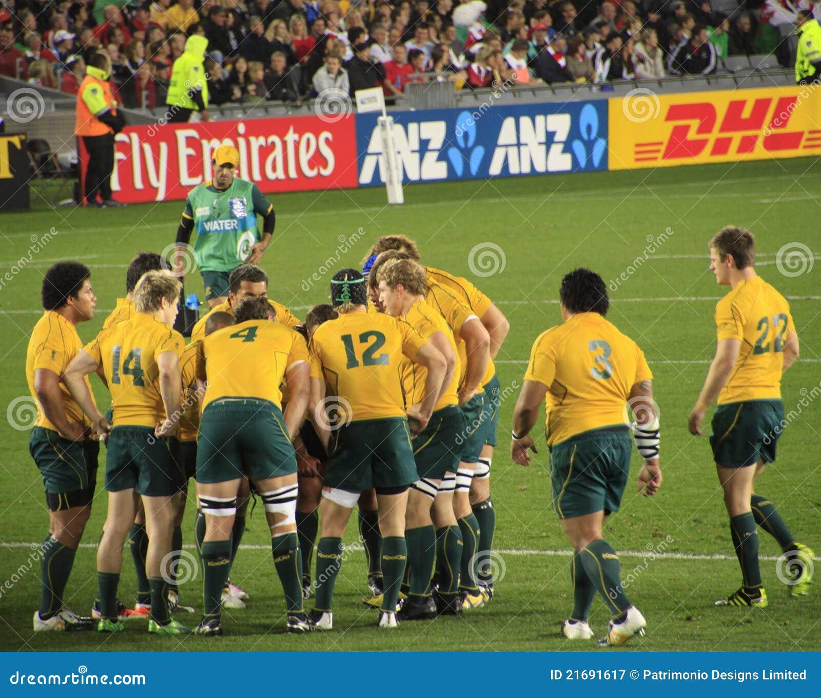 Wales för Australien kopprugby kontra värld 2011