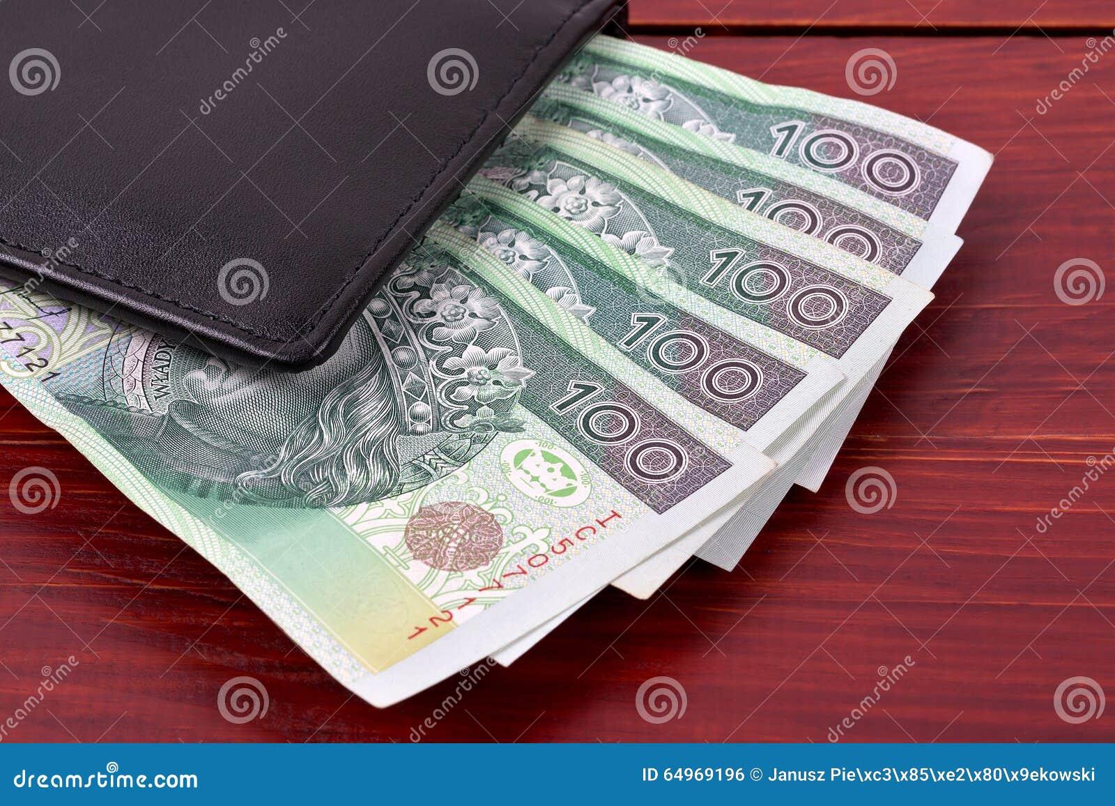 Walet avec l argent polonais
