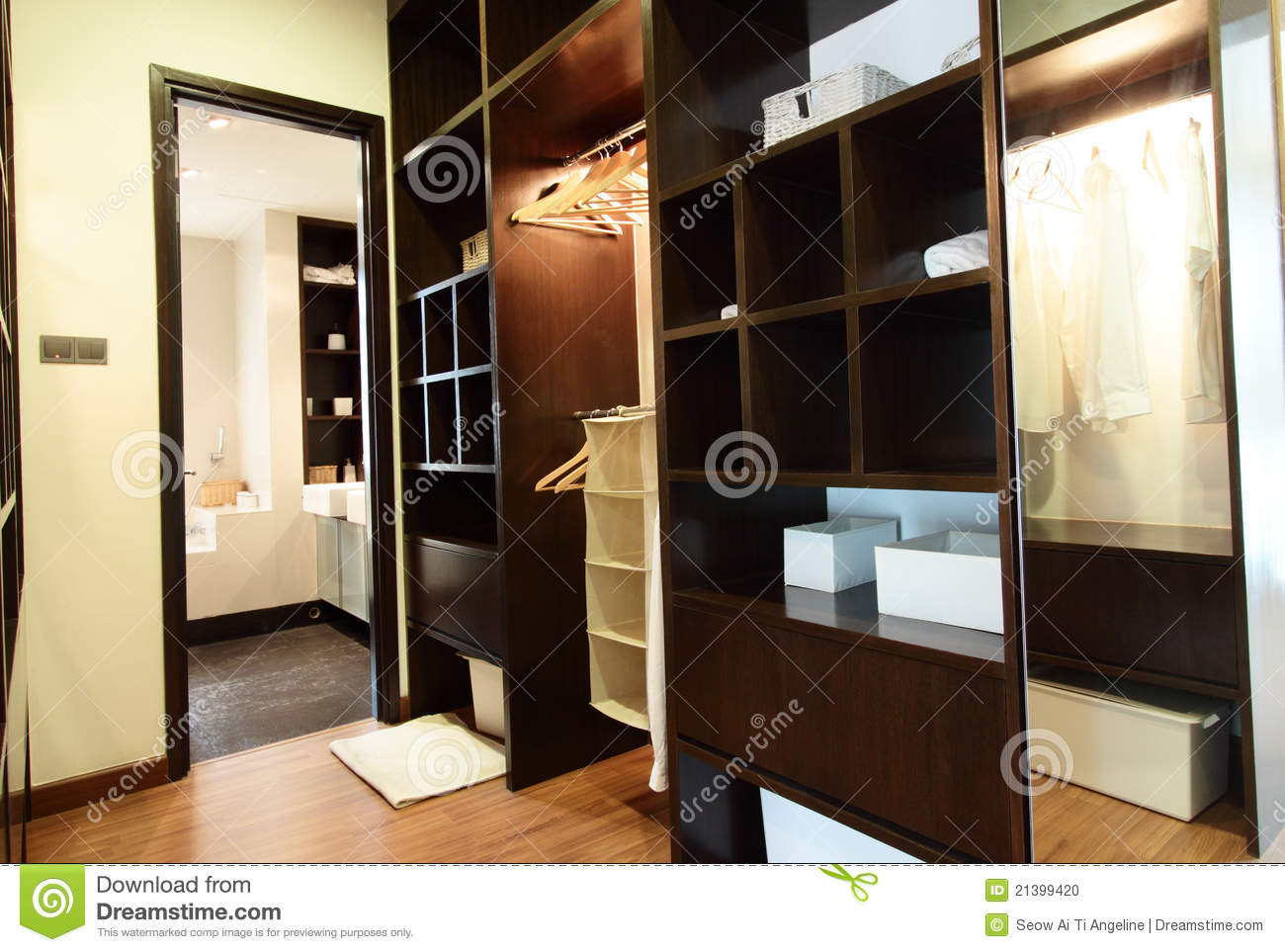 Walk In Closet Stock Photo Image Of Brown Boxes