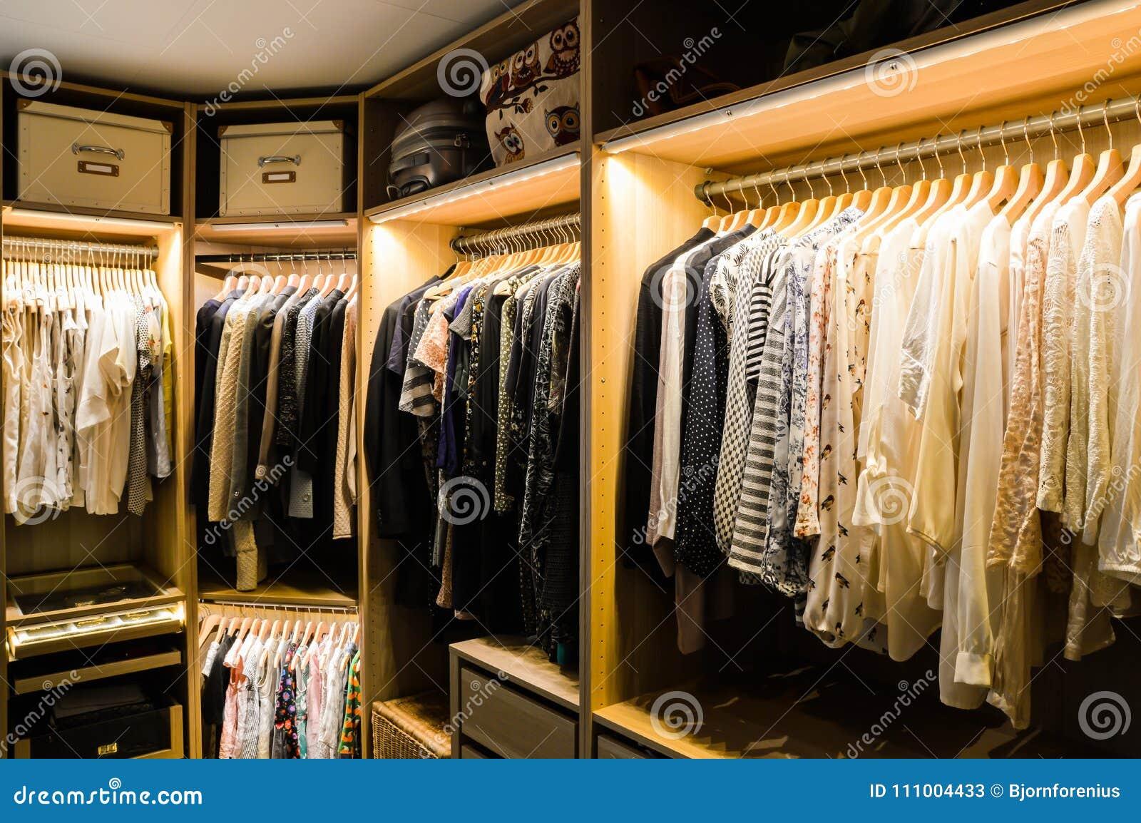 Walk in closet, dressing room