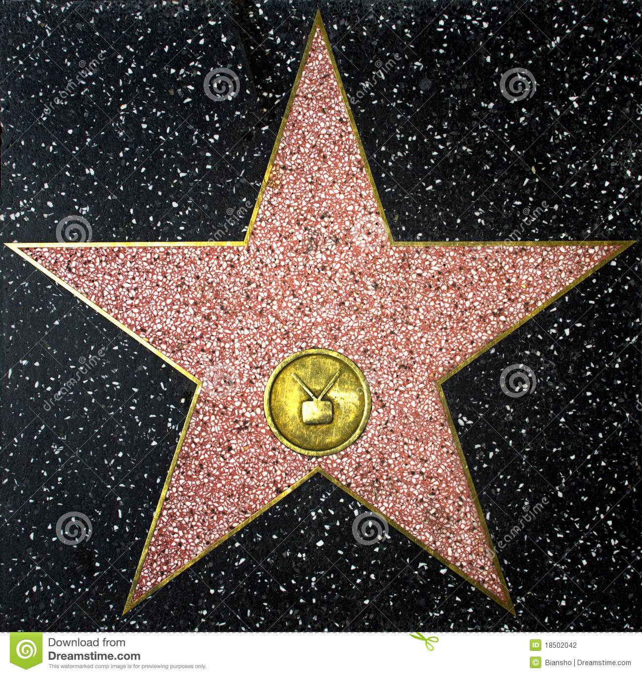 Hollywood And All That: Walk Fame Empty Star Stock Images