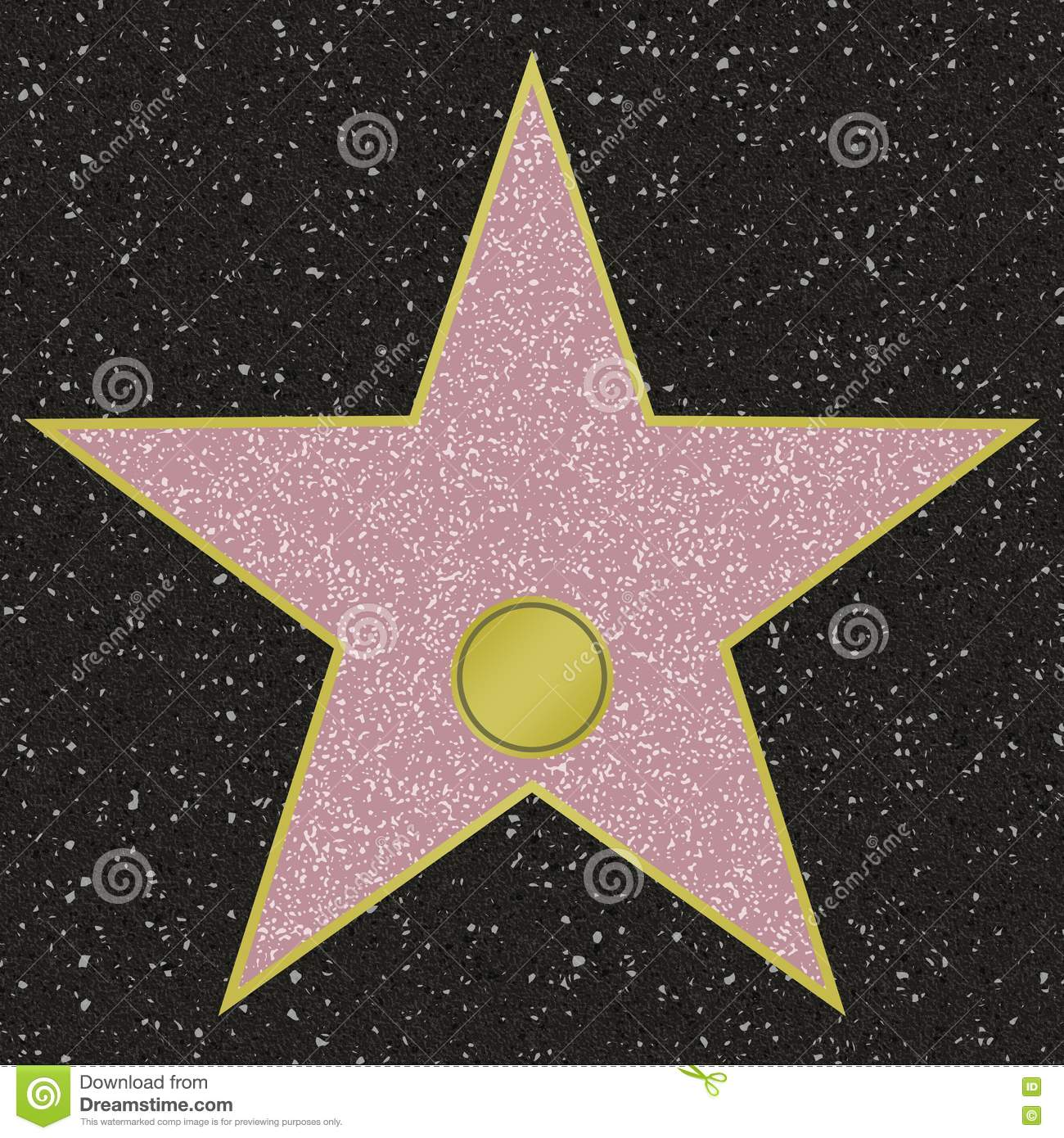 It is a photo of Fan Hollywood Star Template Printable