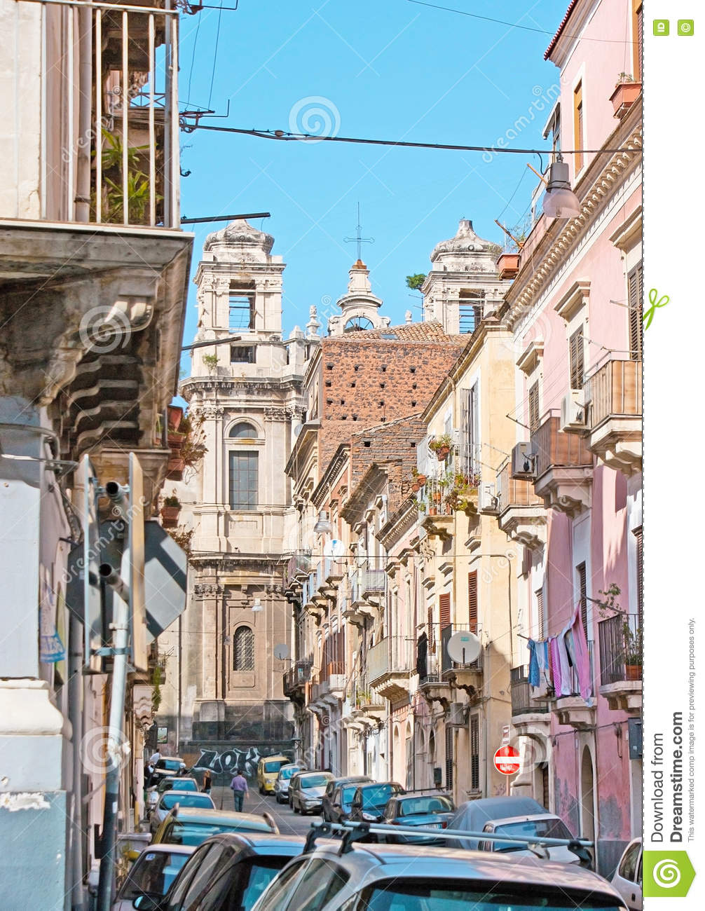 Walk in old Catania