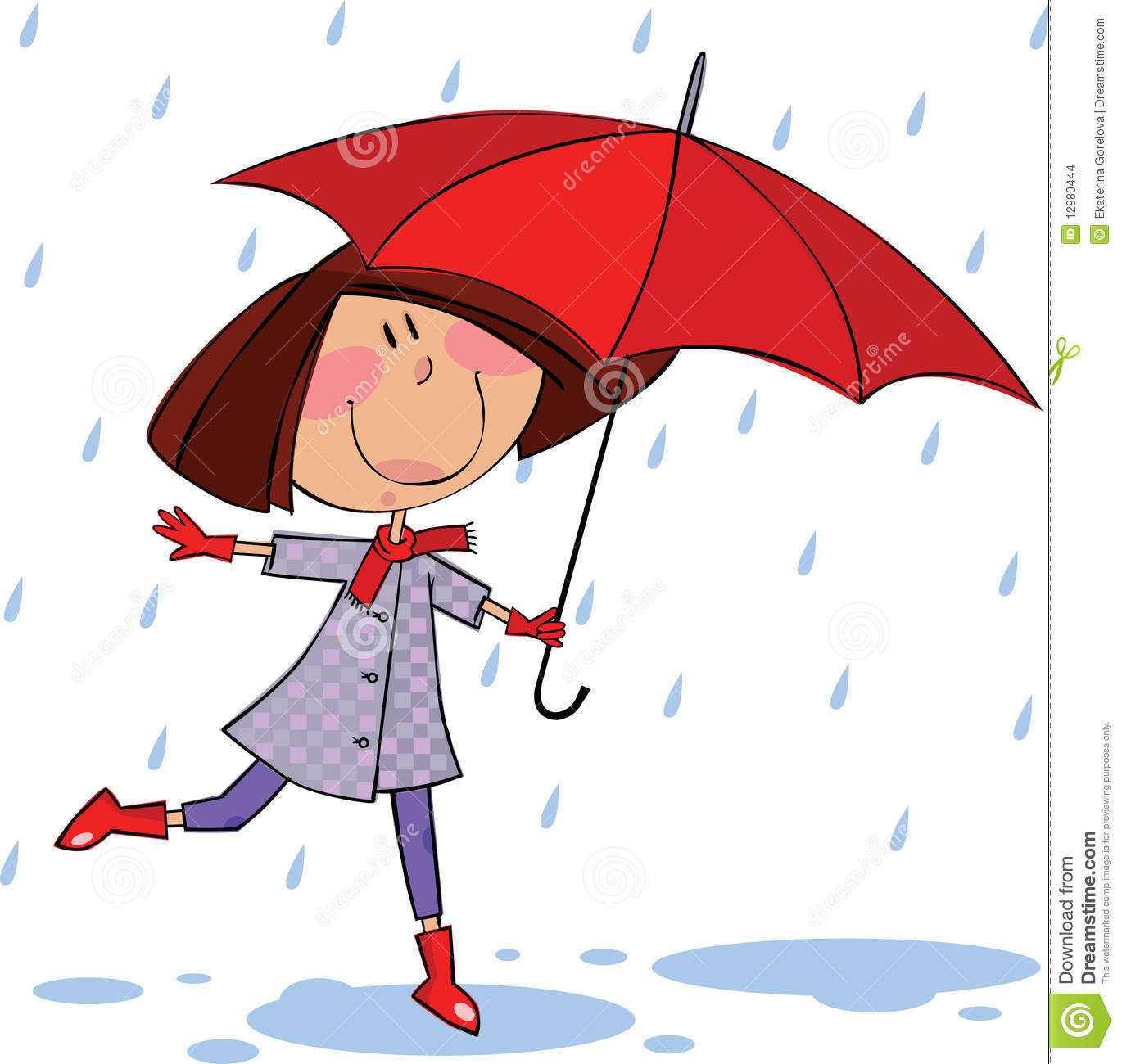 Walk In The Rain Stock Images - Image: 12980444