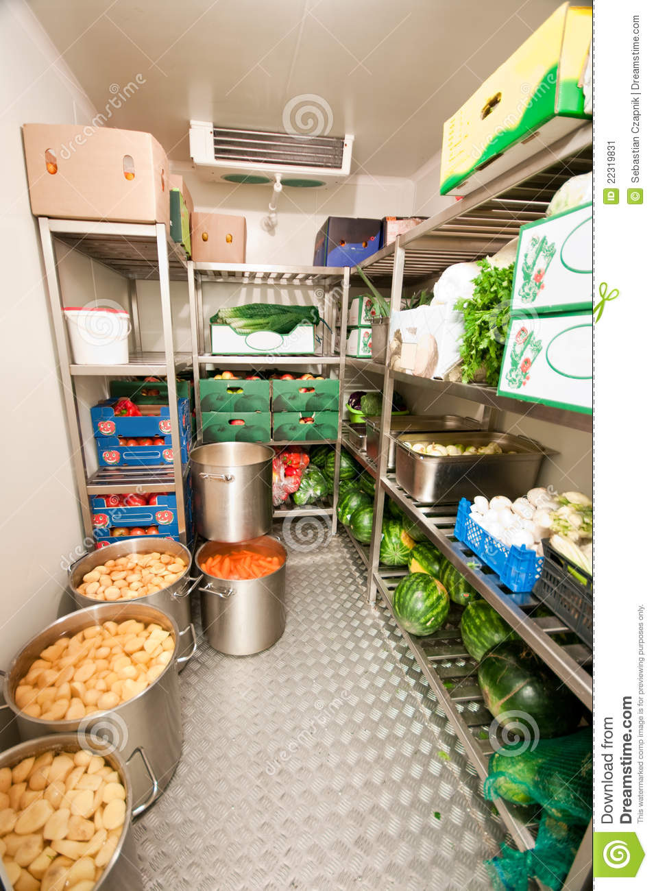 Walk-in Refrigerator Cooler Stock Image - Image: 22319831