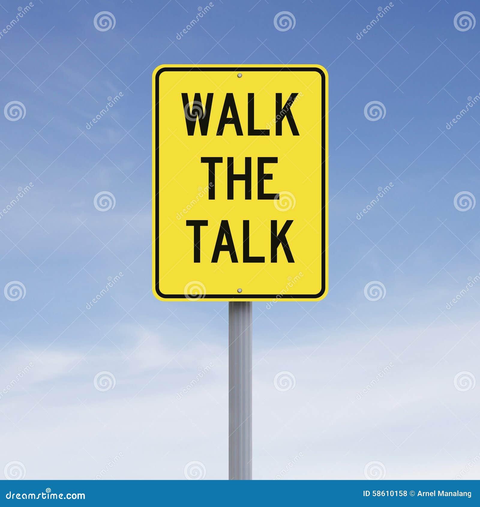 Walk The Talk Stock Photo - Image: 58610158