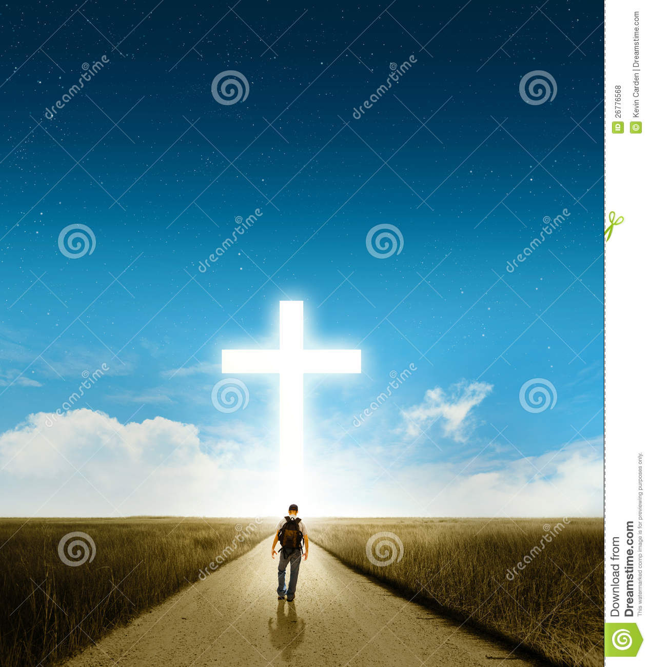 Download Walk to the cross stock photo. Image of hike, road, christian - 26776568
