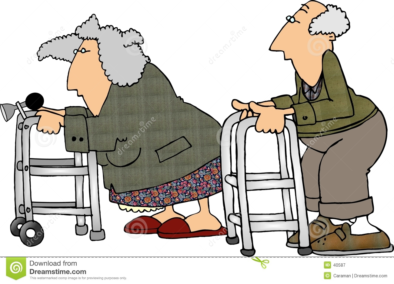This illustration that I created depicts an old man & woman having a ...