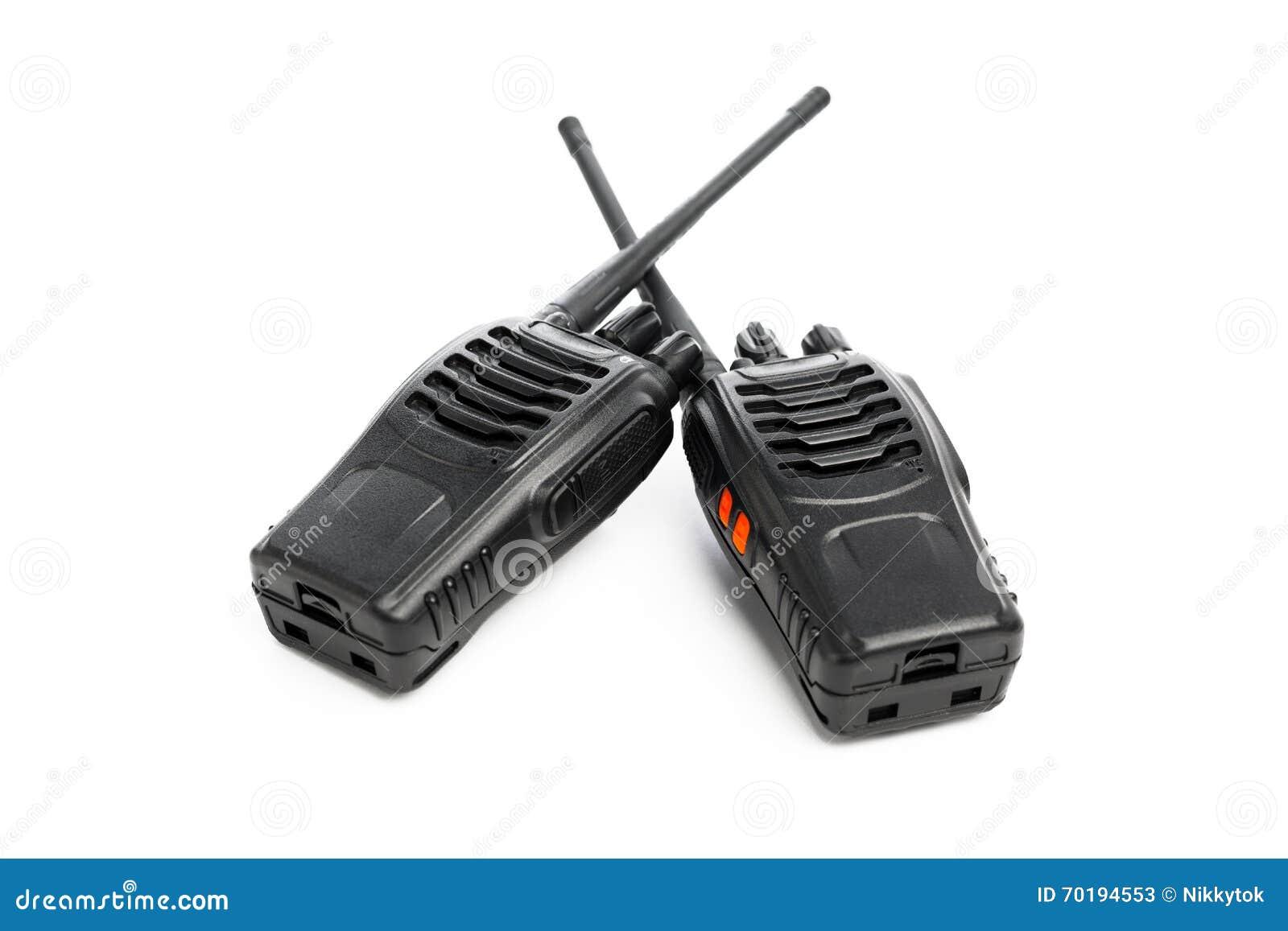 Walkie-talkie för bärbara radior på vit