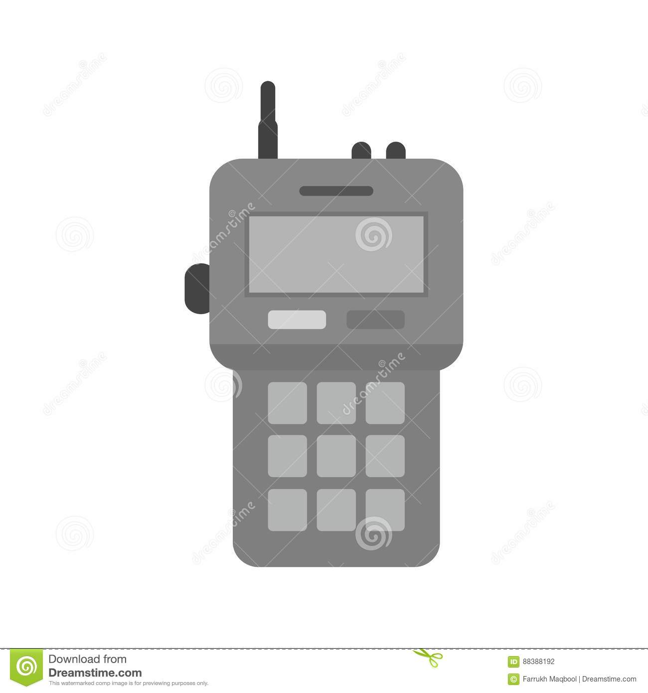 Walkie Talkie stock vector  Illustration of communications