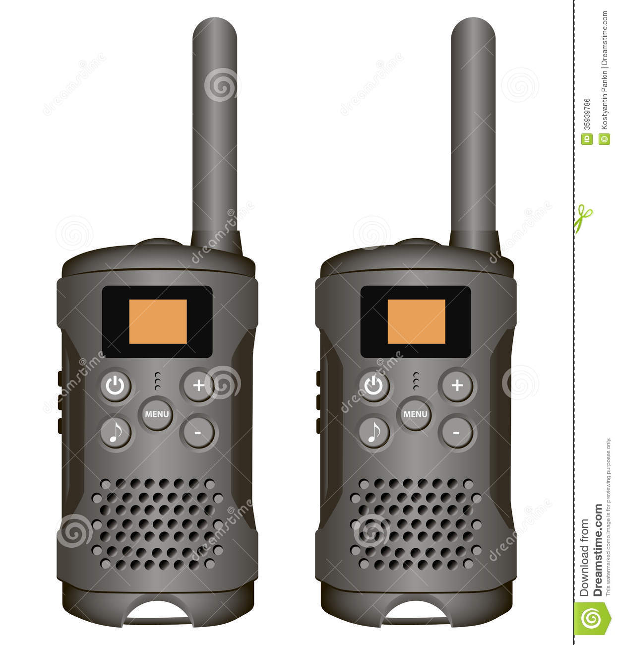 Walkie talkie in a rounded square svg png icon free download.