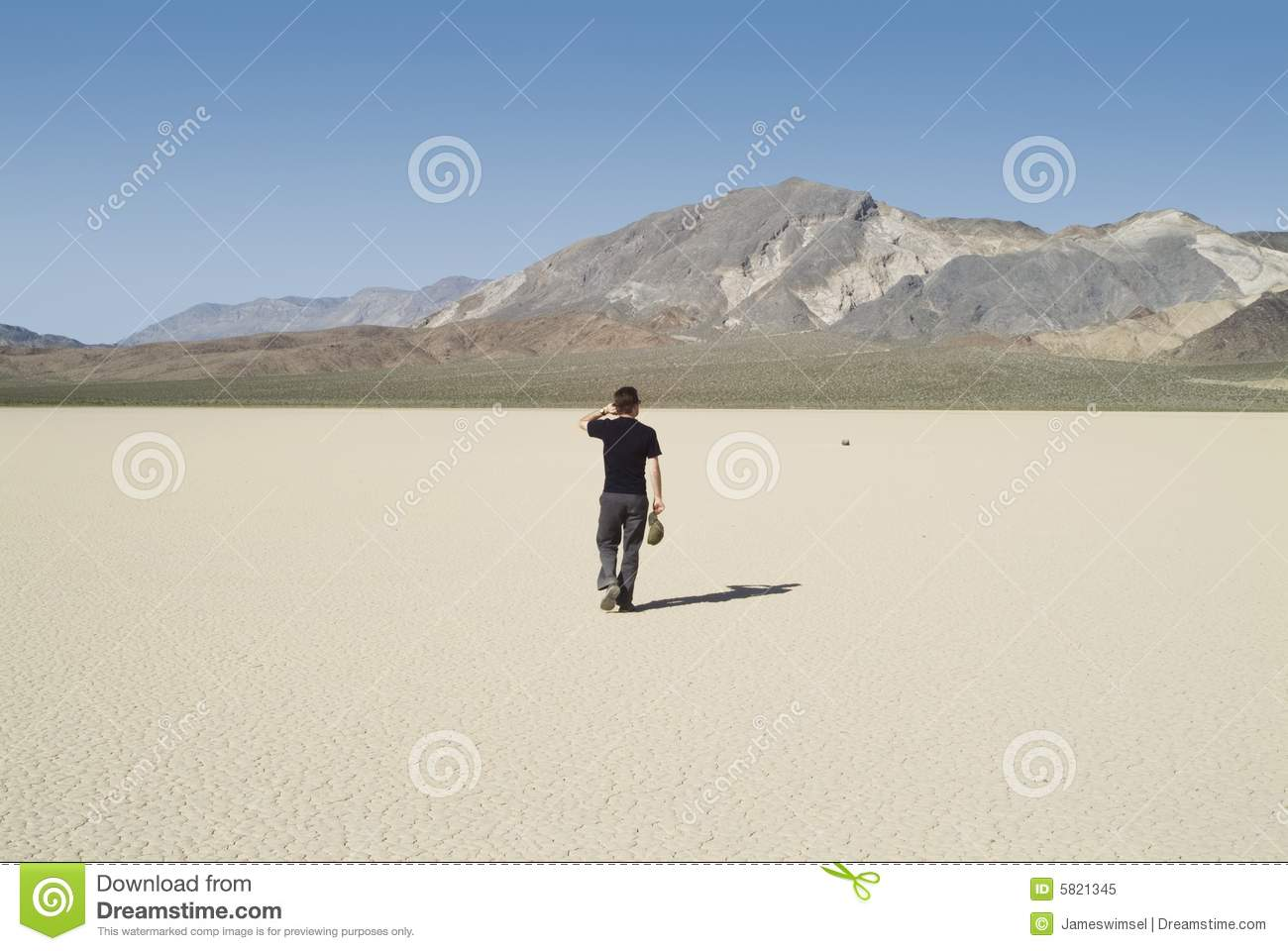 Walking Alone In The Desert Royalty Free Stock Photo - Image: 5821345