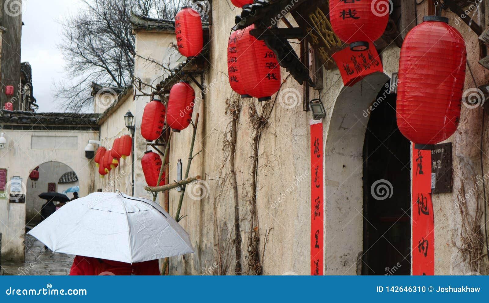 Walking through an ancient Chinese town