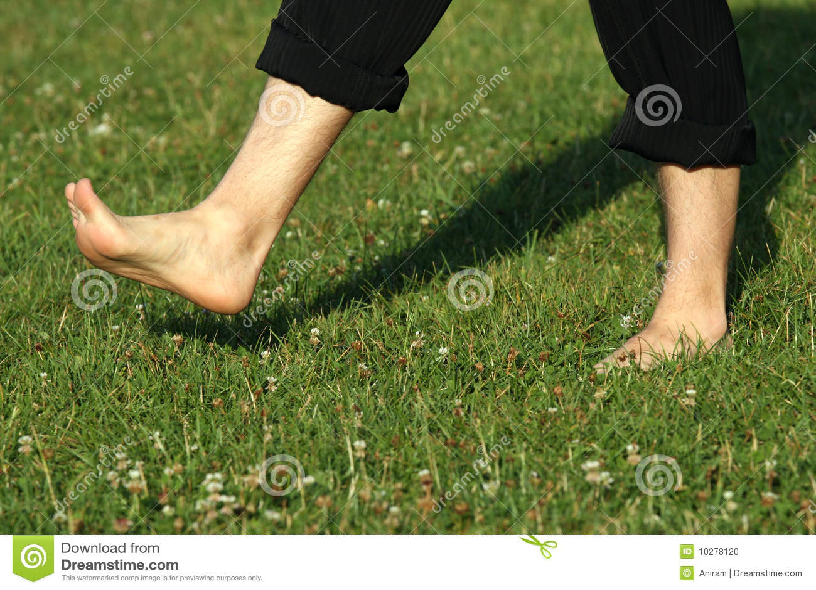 Walking Barefoot Stock Photo - Image: 10278120