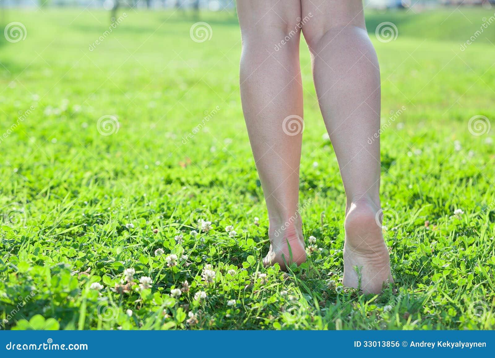 woman walking in grass - photo #2