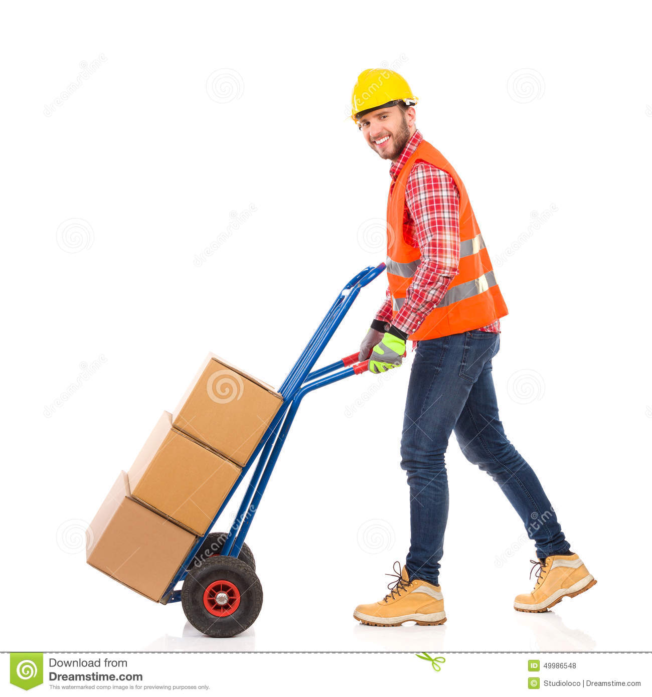 Walking Delivery Person Stock Photo - Image: 49986548