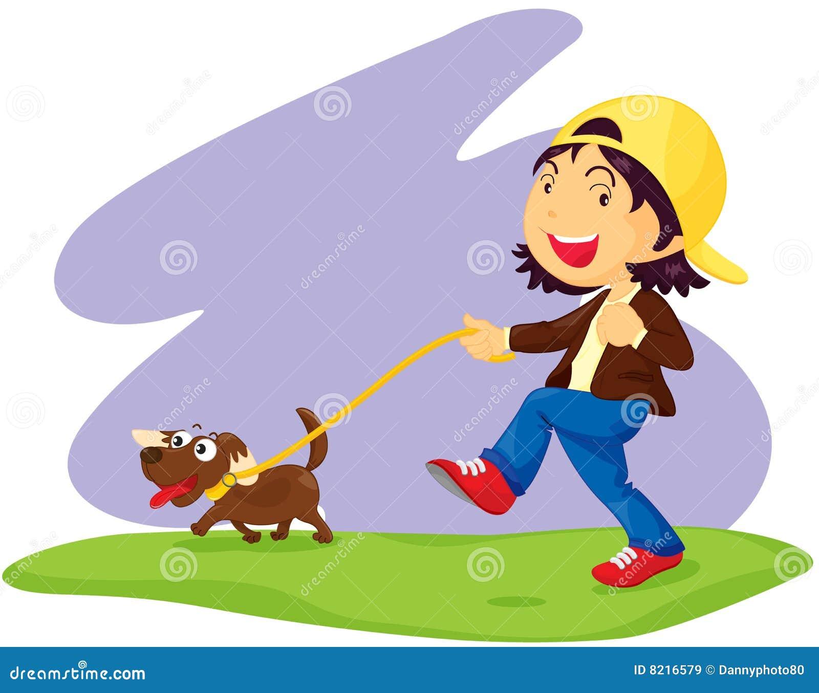 clipart girl walking dog - photo #33