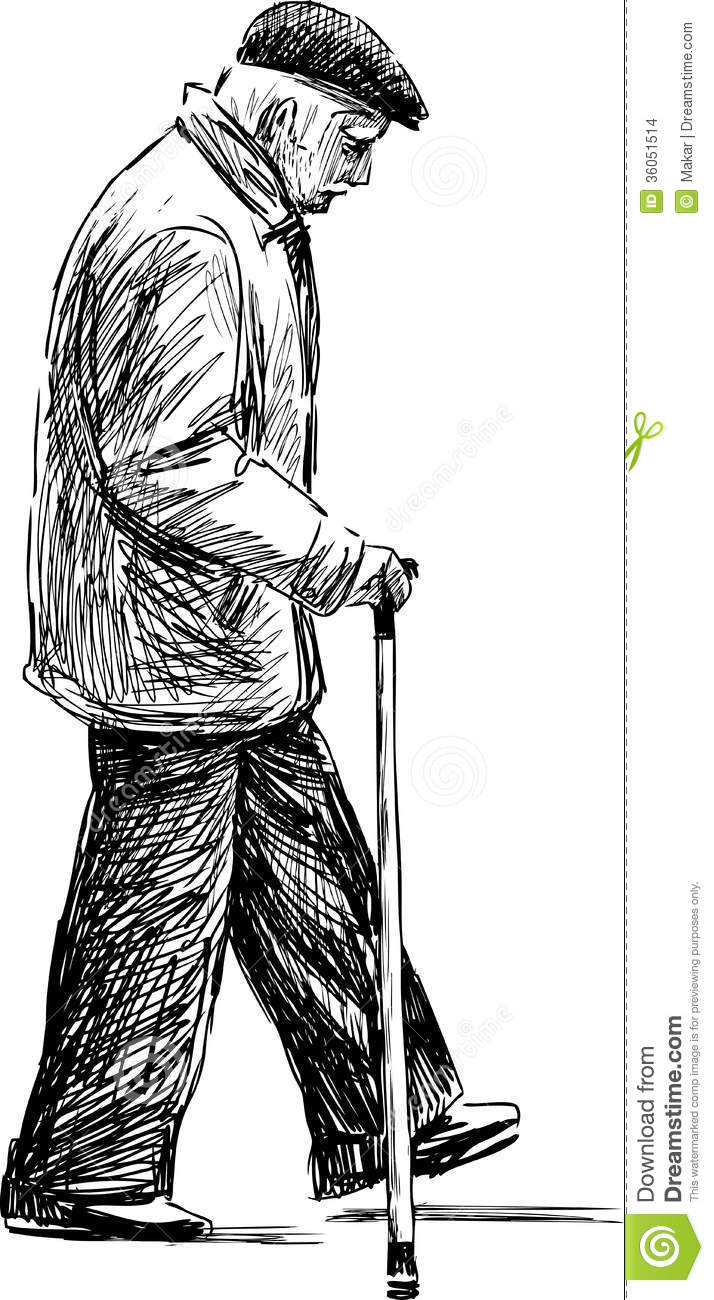 Walking Elderly Man Stock Images - Image: 36051514
