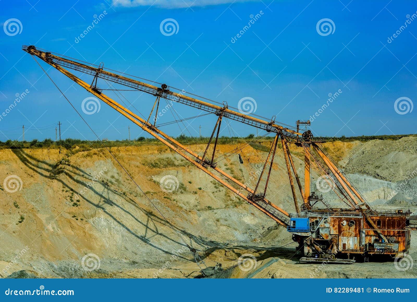 Walking Excavator Stock Image Image Of Deep Ecology 82289481