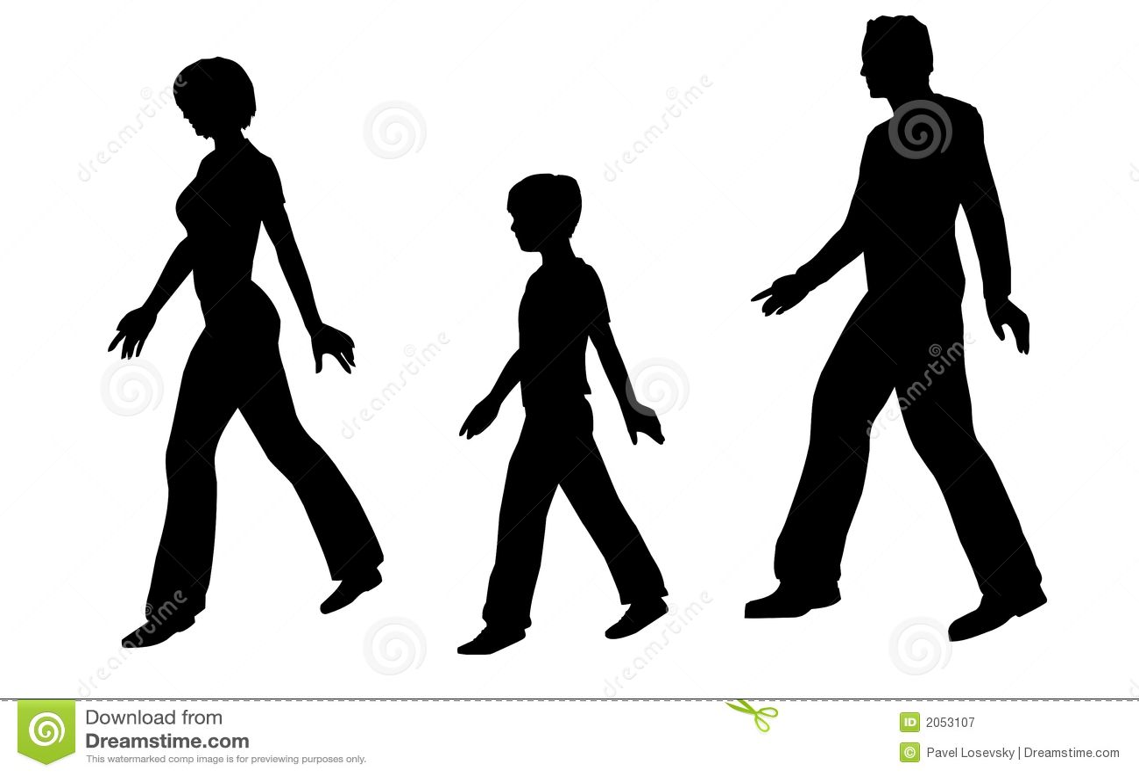 Walking Family Vector Stock Illustration Of Step