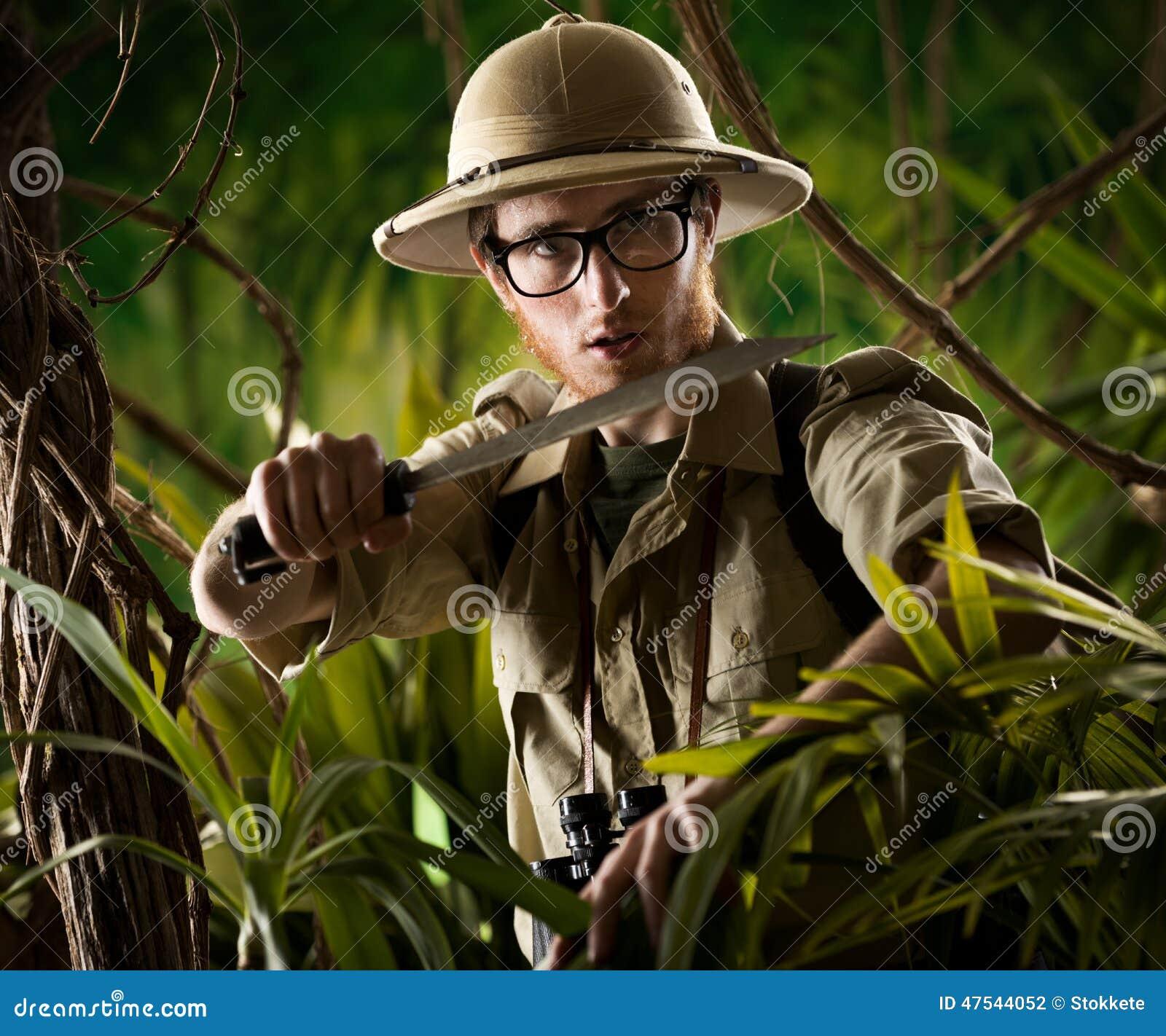 Walking Through The Jungle Stock Photo