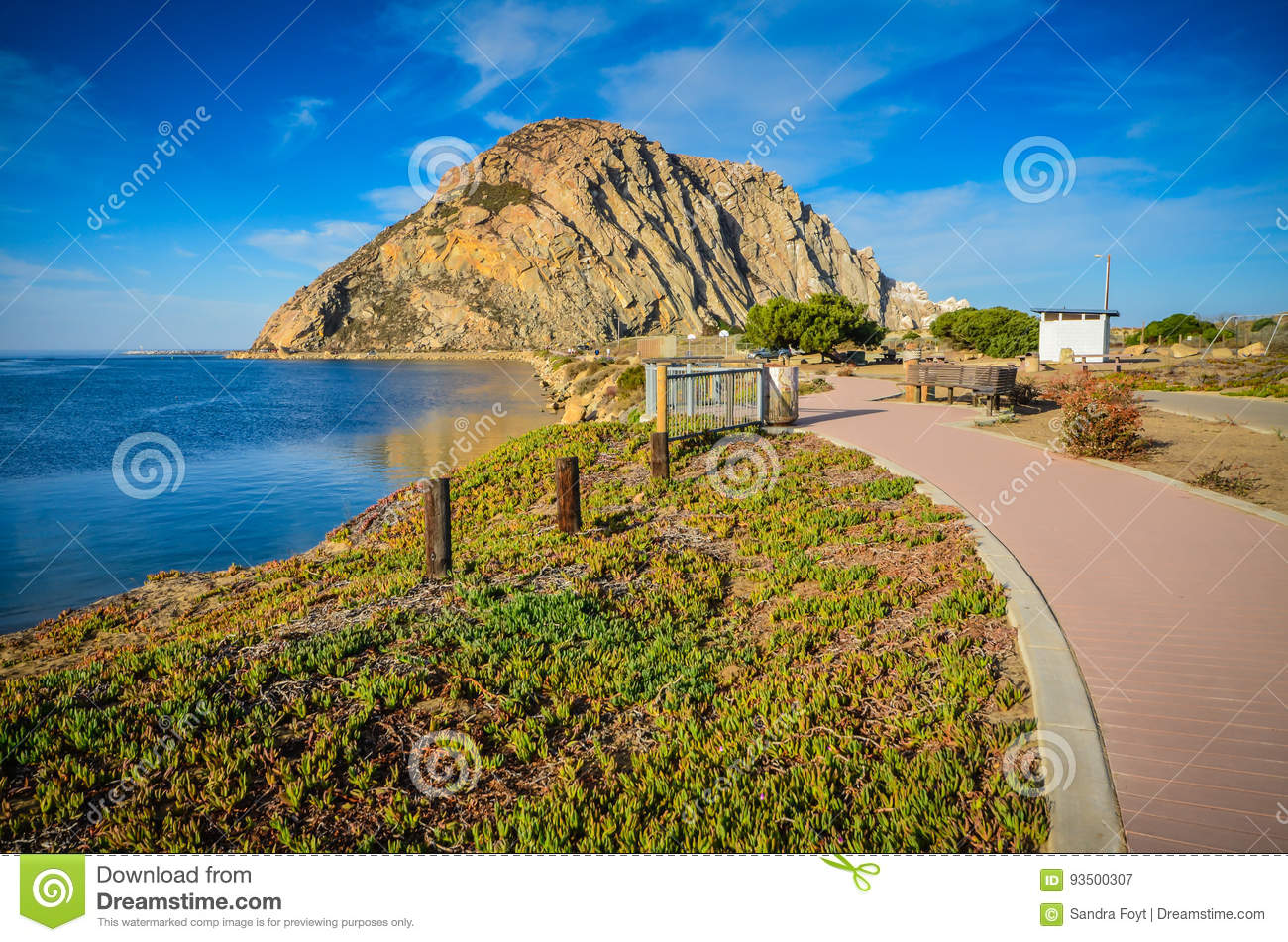 Walking Path - Morro Rock - California