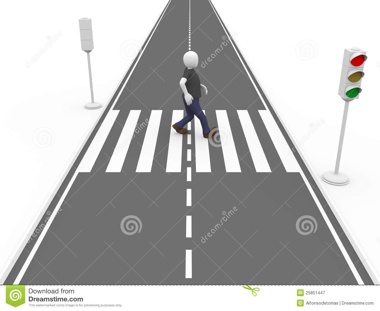 Line Drawing Of Zebra Crossing : Walking on a pedestrian pass royalty free stock