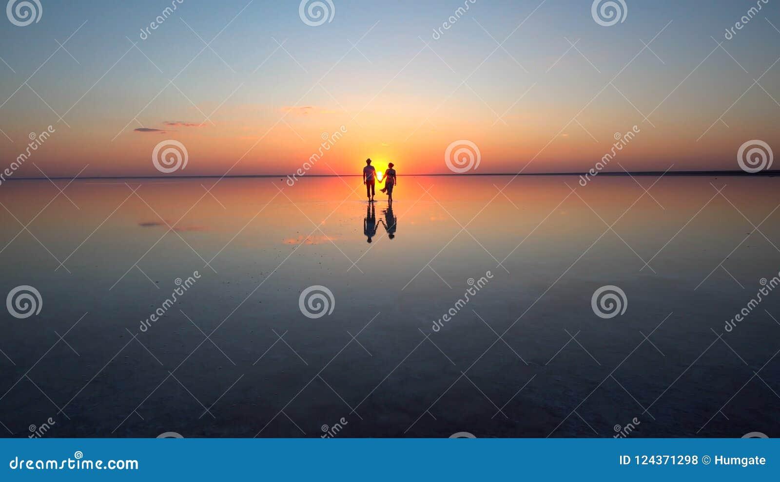 Walking into the setting sun