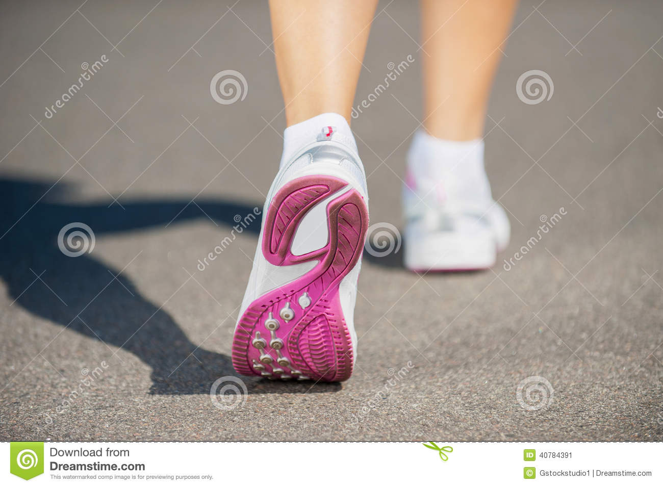 Walking In Sports Shoes Stock Photo Image 40784391