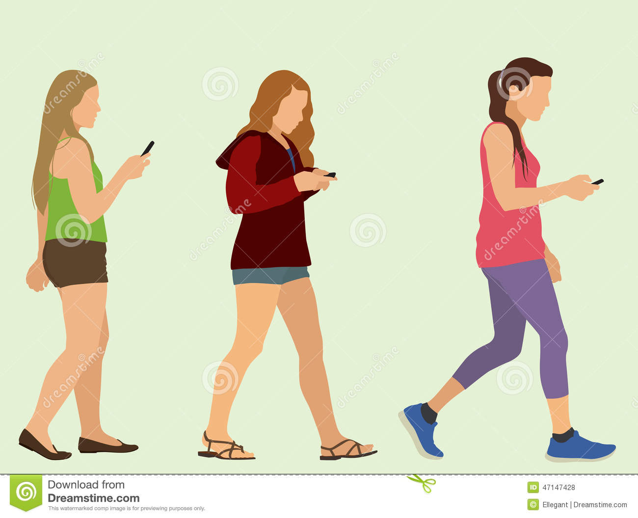 girl texting clipart - photo #10