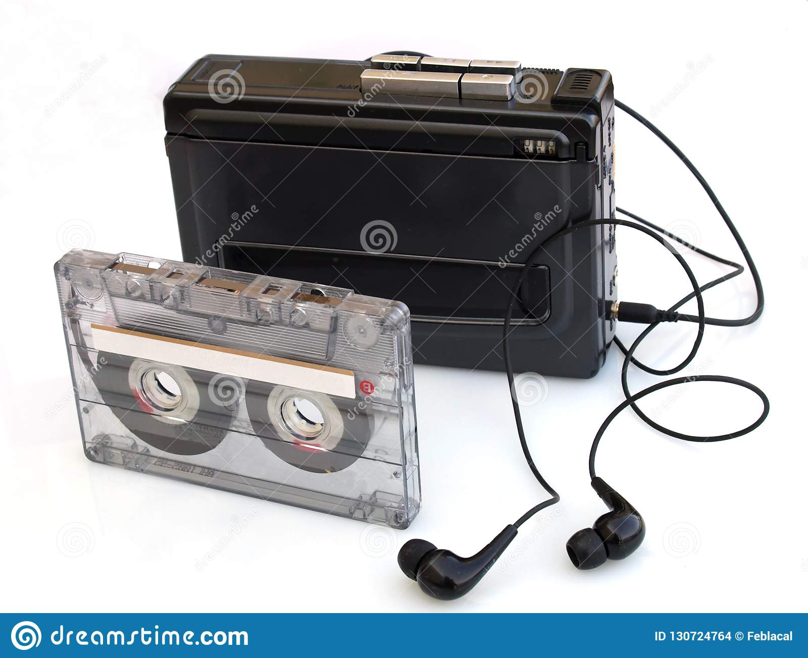 walkman and music cassette