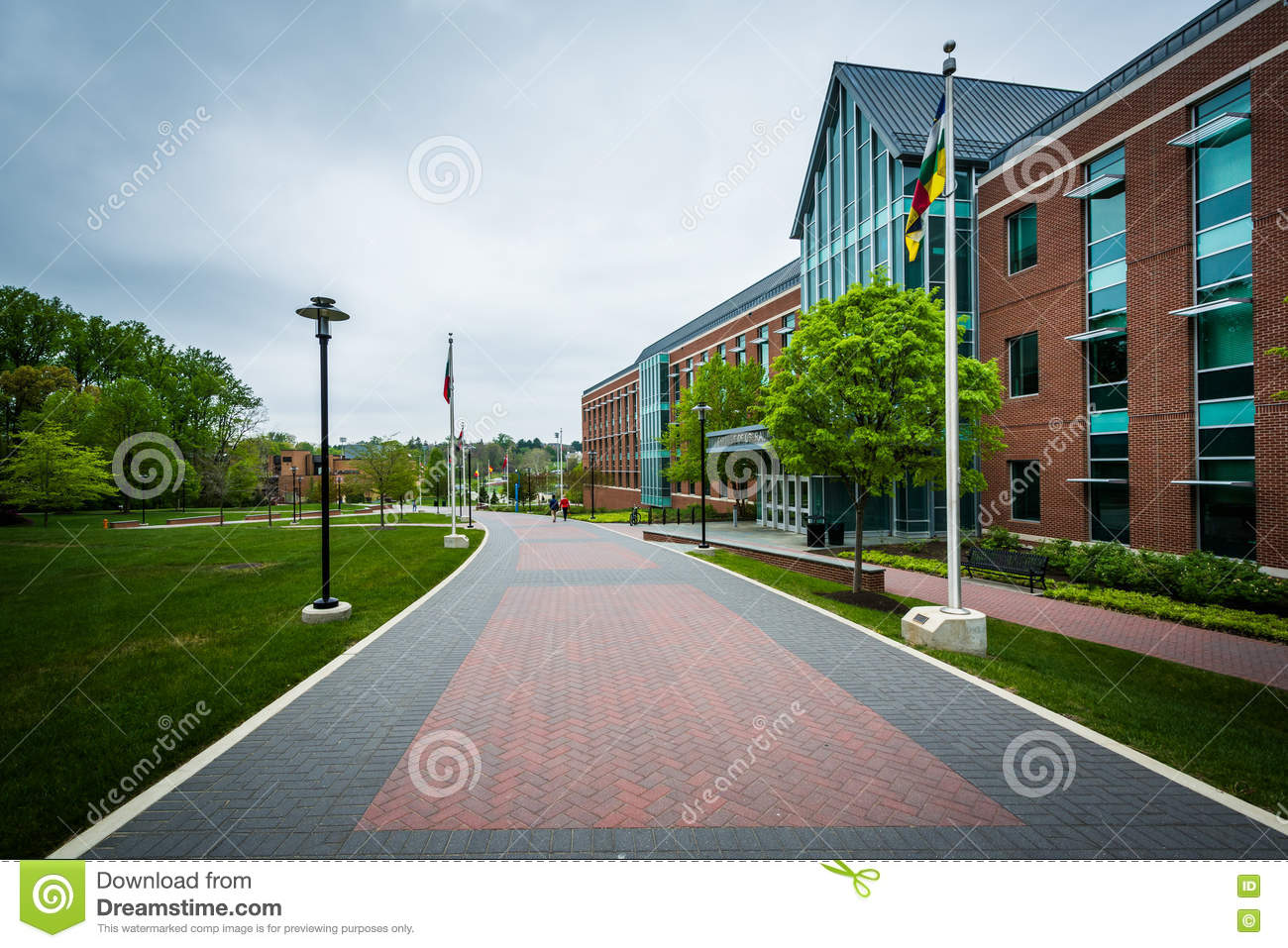Walkway and the College of Liberal Arts, at Towson University, i