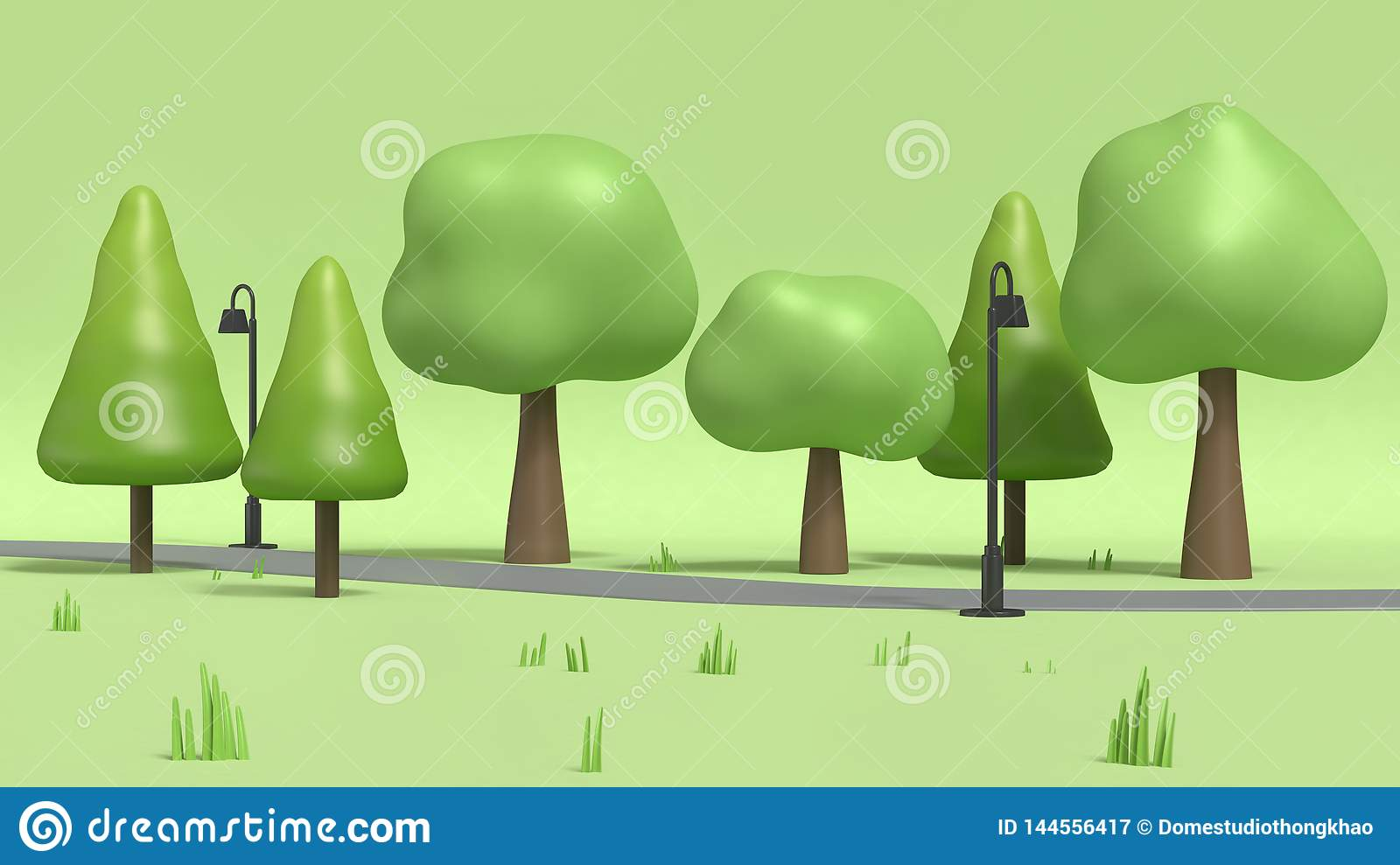 Walkway And Lamp With Many Trees In Green Parks Cartoon Style Low Poly 3d Render Stock Illustration Illustration Of Grass Parkscartoon 144556417 3d cartoon tree models are ready for animation, games and vr / ar projects. https www dreamstime com walkway lamp many trees green parks cartoon style low poly d rendering walkway lamp many trees green parks image144556417