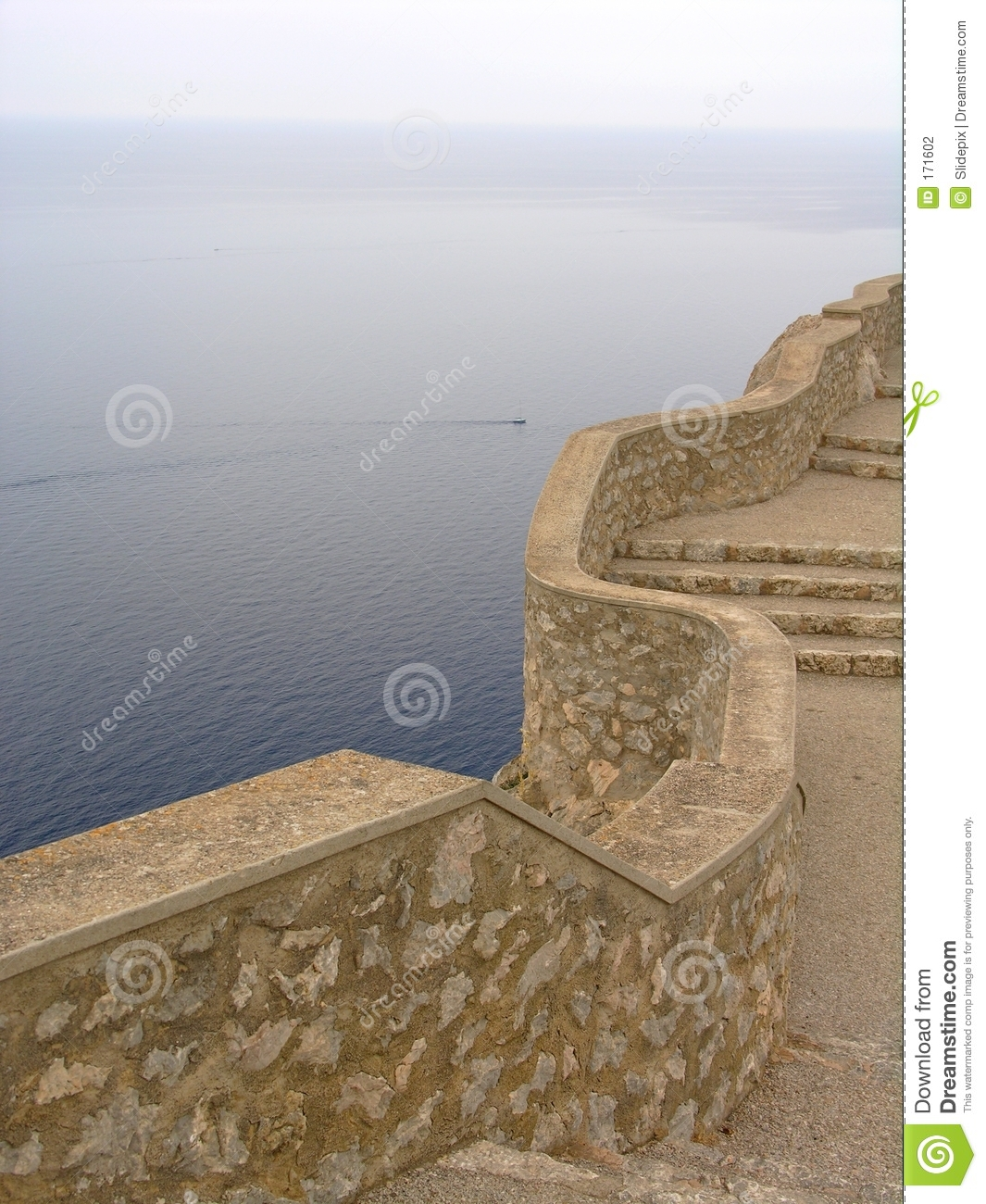 Wall above the ocean