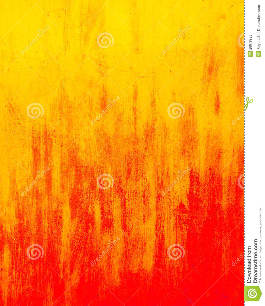 Wall abstract grunge background red and yellow