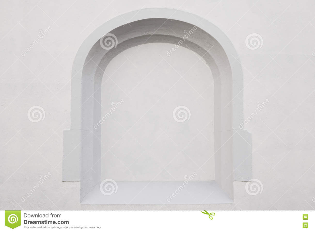 Wall With Alcove Background Stock Photo - Image: 75789509