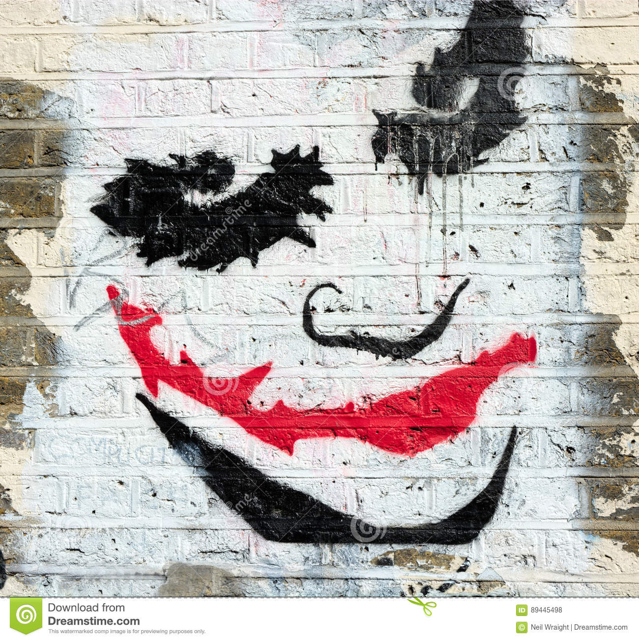 Wall Art The Joker Editorial Stock Photo Image Of Artistic 89445498