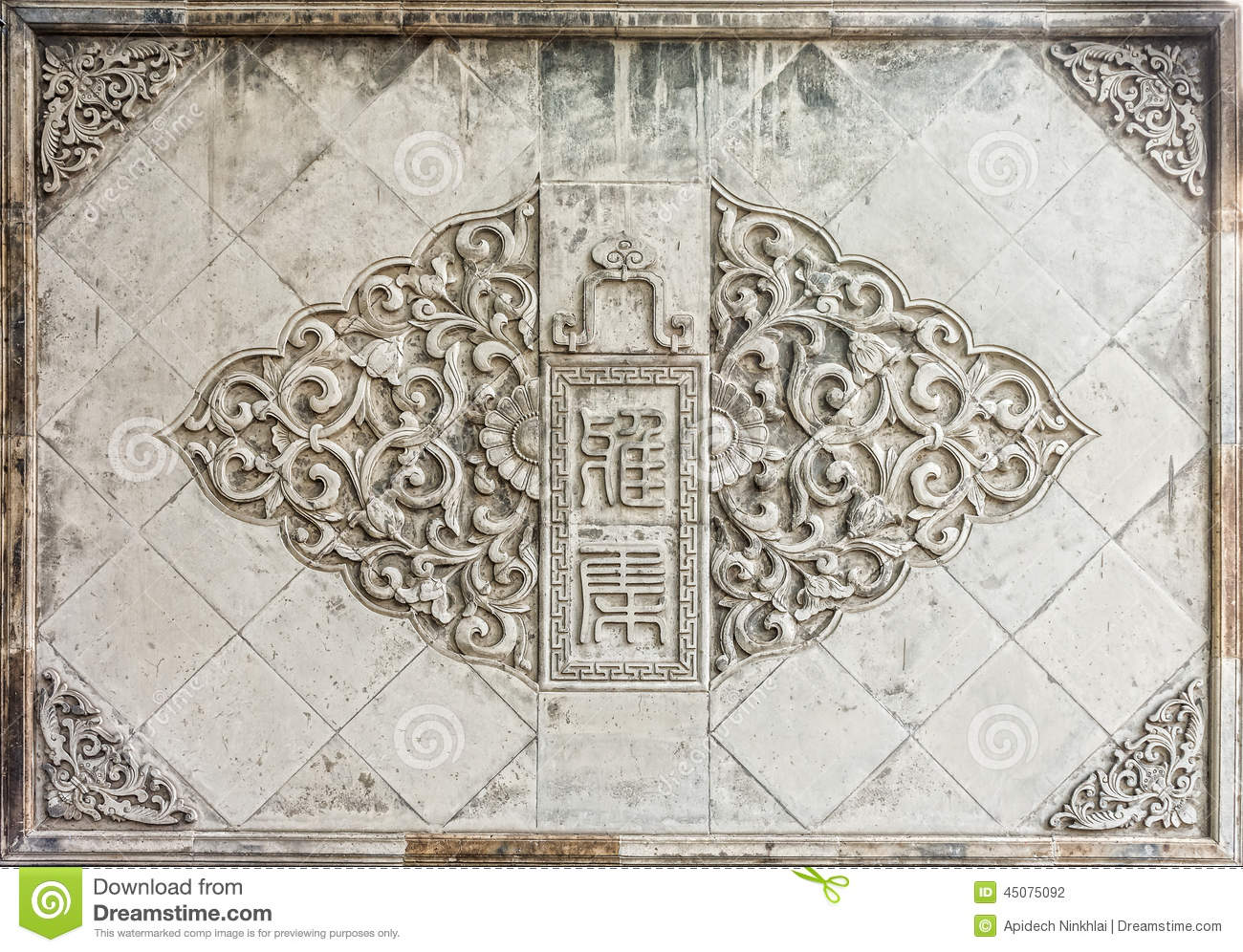 The wall art of oriental chinese design for interior and for Time saver details for exterior wall design