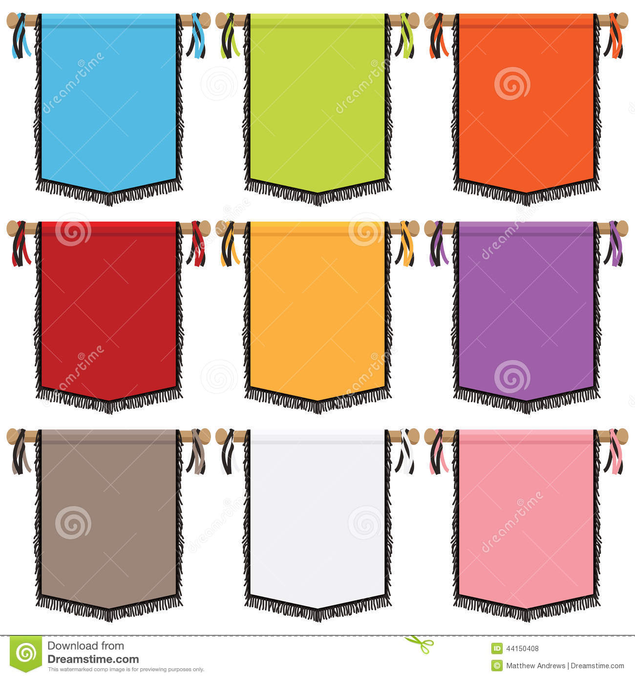 wall banners stock vector
