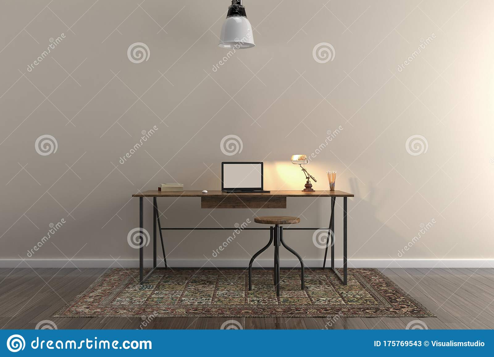 Picture of: Wall Bed And Chair Modern Mid Century Bedside Table And White Bed On White Wall Background Stock Image Image Of Contemporary Comfortable 175769543