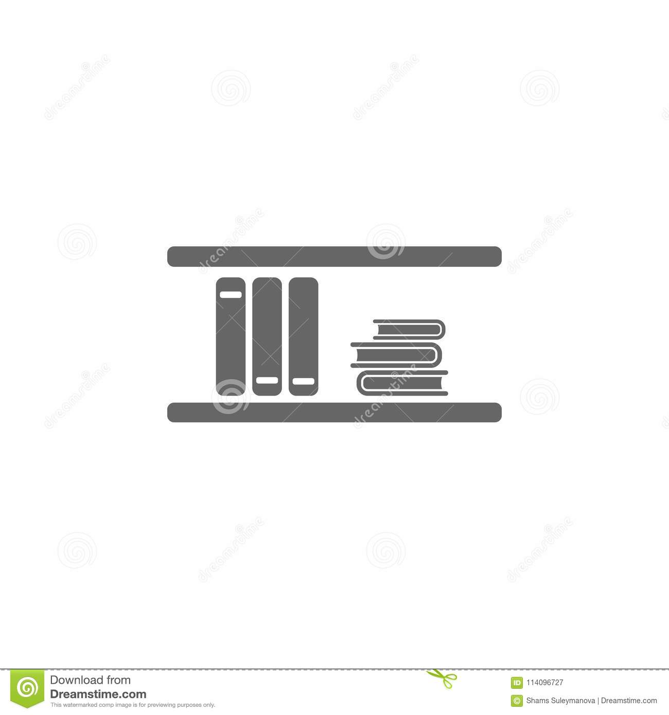 Wall Bookshelf Icon Simple Element Illustration Symbol Design Template Can Be