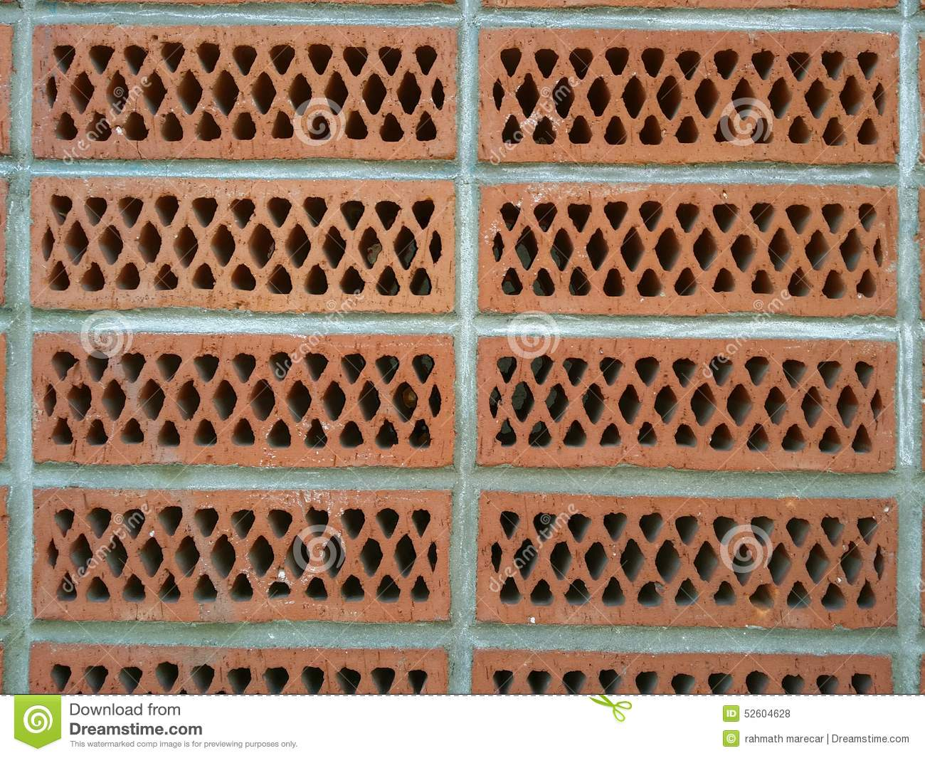 Wall Of Brick With Holes