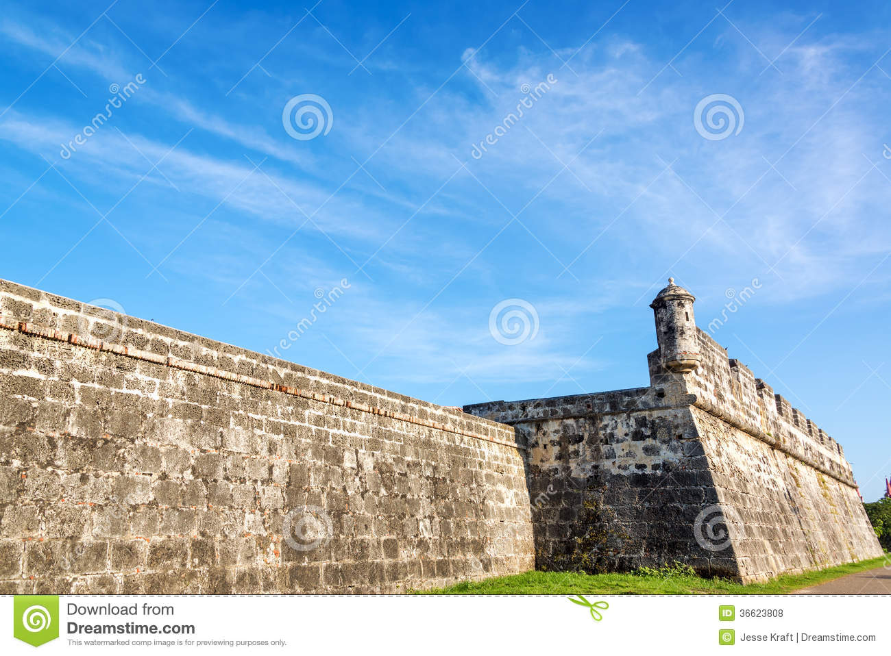 Wall of Cartagena, Colombia