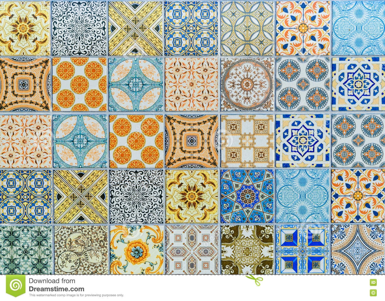 Wall ceramic tiles patterns Mega set