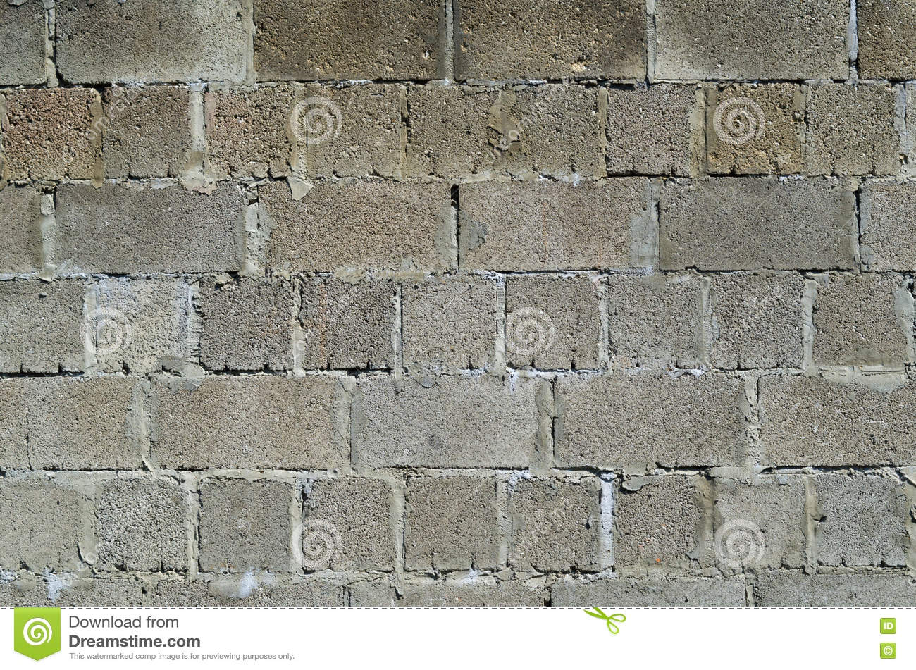 The Wall Of Cinder Block Stock Photo Image 72339512