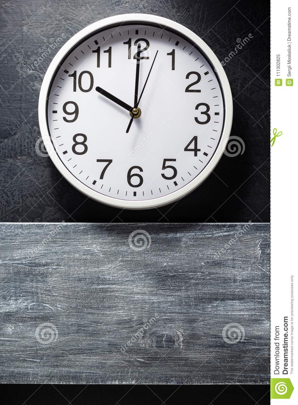 Wall Clock At Black Stock Image Image Of Manger Child 111302825