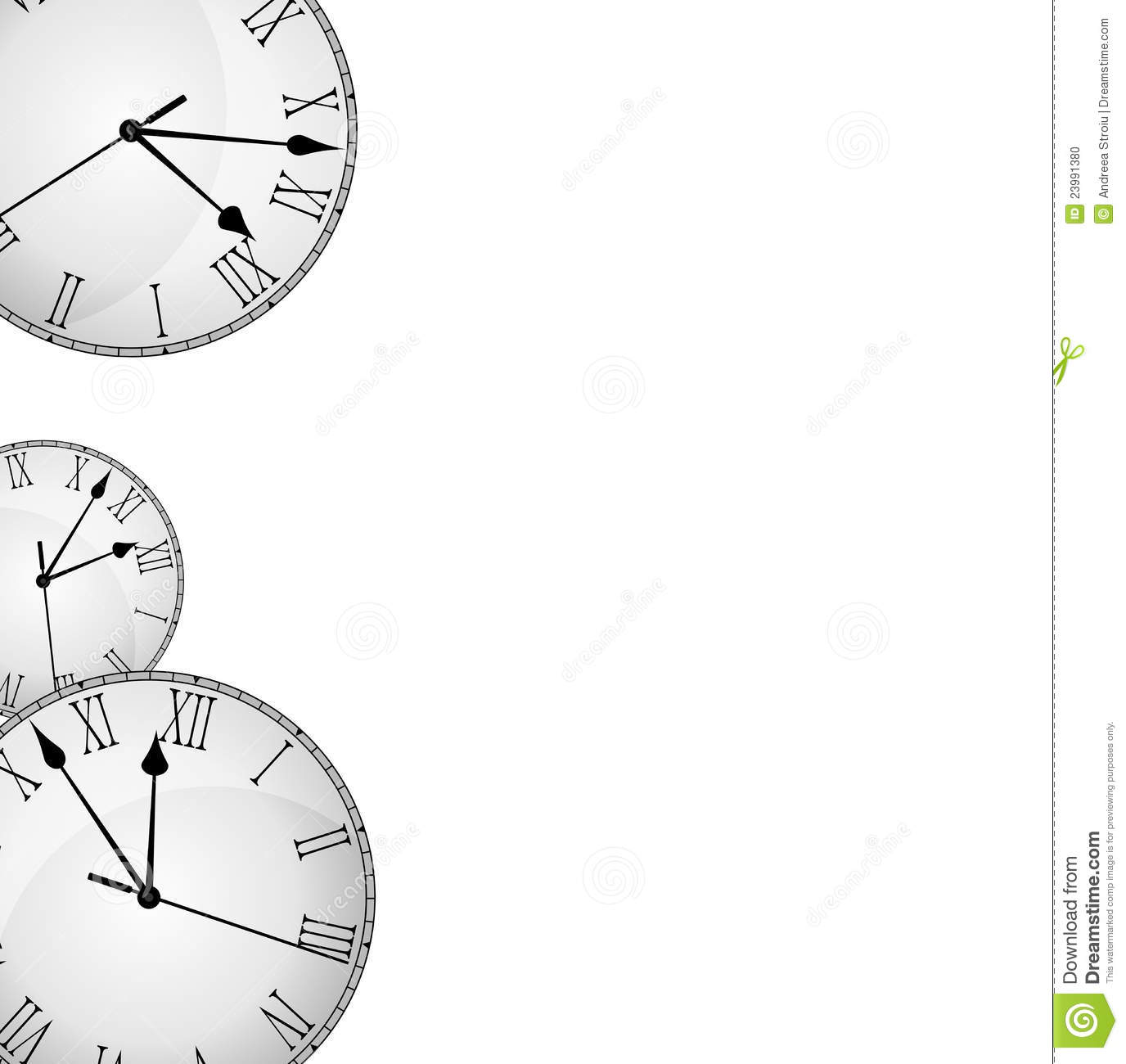 Wall Clock Border Frame Stock Illustration Image Of
